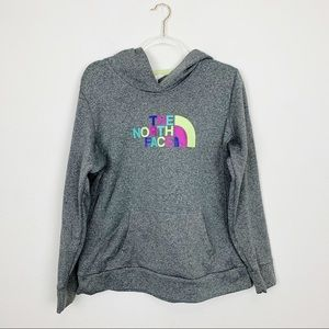 The North Face Gray Hooded Sweatshirt Size XL